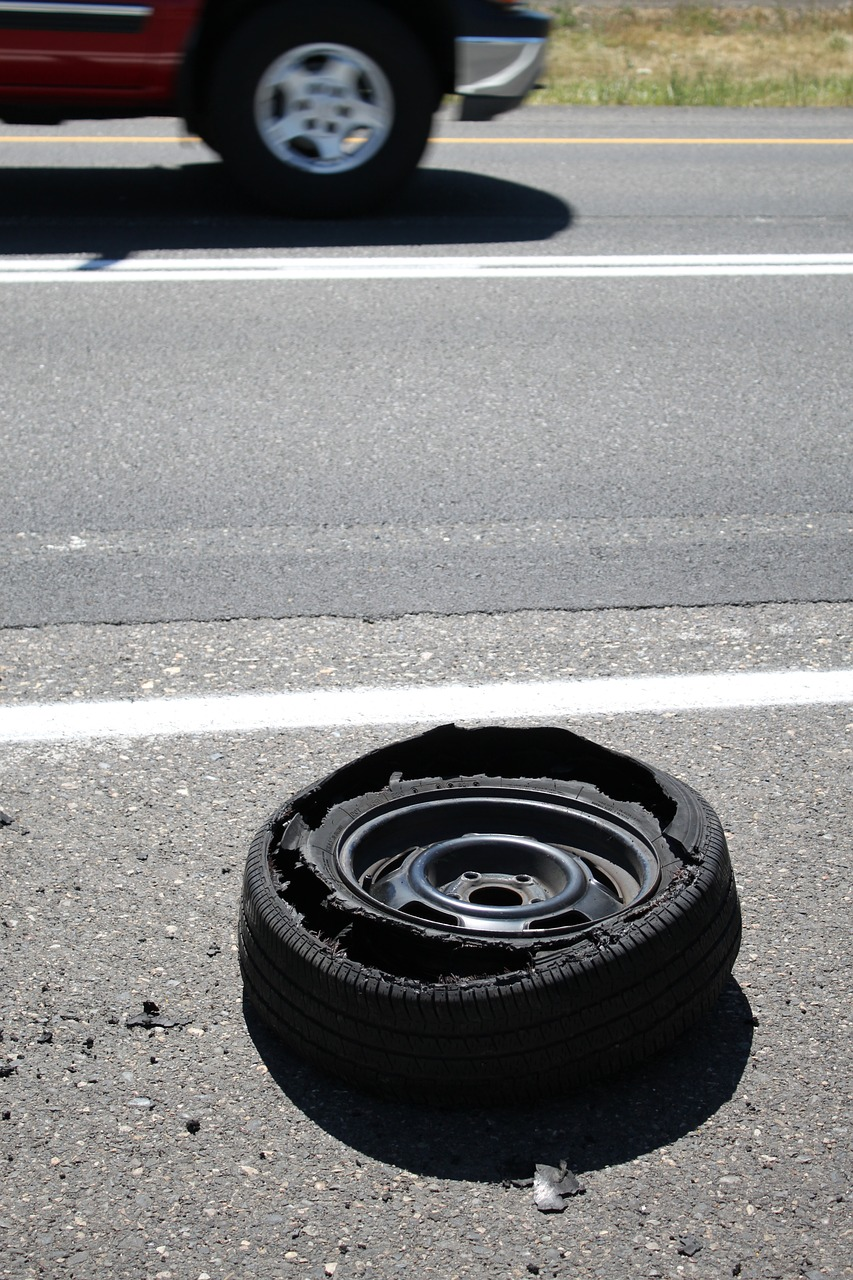 What Should I do during a tire blowout